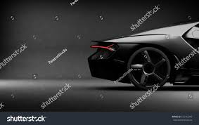 Lamborghini Aventador Tail Lights - generic black sports car with grunge stock illustration 672142240