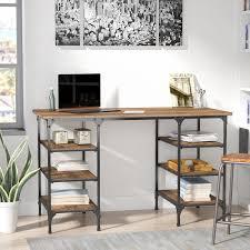 counter height desk with storage counter height desks trent austin design rocklin rectangular writing