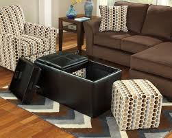 Rolling Ottoman With Storage by Leather Storage Ottoman On Wheels