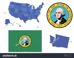 Washington State Detailed Map Stock by Vector Illustration State Washingtoncontains High Detailed Stock
