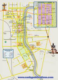 Spine Map Map Of Battambang Cambodia