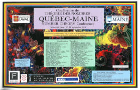 québec maine number theory conference 2014