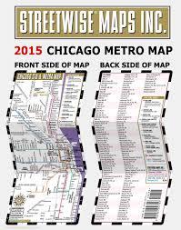 Cta Map Chicago Streetwise Chicago Cta U0026 Metra Map Laminated Chicago Metro Map
