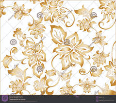 Gold Flowers Gold Flower Background Pattern Stock Photos Image 6543173