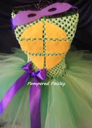 ninja halloween costumes for girls teenage mutant ninja turtles inspired donatello tutu dress