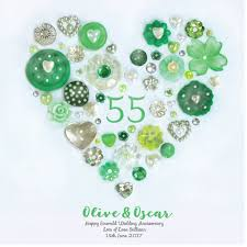 55th wedding anniversary personalised emerald anniversary framed by sweet dimple
