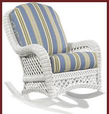 White Wicker Patio Chairs The Most Outdoor White Wicker Rocking Chair Furniture In Cane