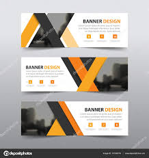 layout banner template orange abstract triangle corporate business banner template