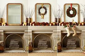 decorating a mantel for fall and christmas how to decorate