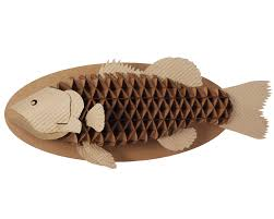 Fish Home Decor Recycled Cardboard Trophy Fish Craft Recycled Art And Cardboard