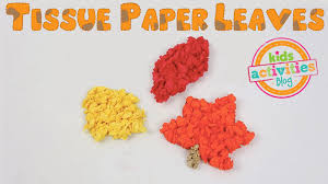 tissue paper leaves craft for fall youtube