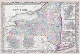 United States Map With Cities And Towns by Large Detailed Old Administrative Map Of New York State With Towns
