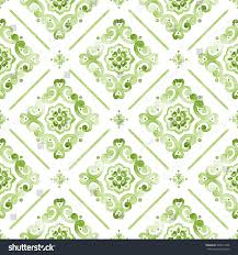 greenery watercolor lace pattern on white stock illustration