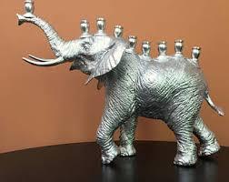 elephant menorah handmade menorah etsy