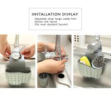 Kitchen Sink Caddy by 2pcs Kitchen Sink Suction Holder For Soap Sponge Storage Hanging