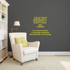 personalized star wars intro sign for kids rooms wall decal personalized star wars intro sign for kids rooms wall decal custom vinyl art stickers by