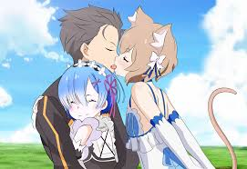 subaru and emilia cosplay fanart re zero rem really loves subaru kun anime