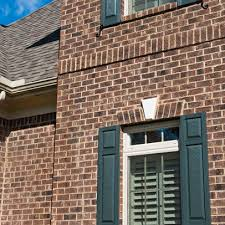 brown brick homes white trim shutter color too bing images