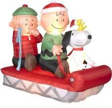 peanuts airblown inflatables gemmy christmas airblown peanuts snoopy in airplane
