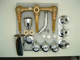 gerber 48 030 three valve tub and shower faucet on eight inch