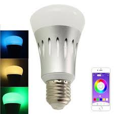 light bulbs that work with amazon echo e27 wireless wifi remote control rgb smart bulb l light for