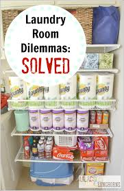 Laundry Room Storage My Laundry Room Storage Dilemmas Solved Lilacs And