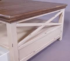 Wohnzimmertisch Vintage Selber Machen Couchtisch Paris Holz Vintage Creme Weiß Landhaus Beistelltisch