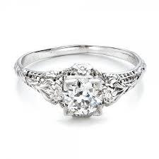 deco engagement ring estate solitaire deco engagement ring 100898