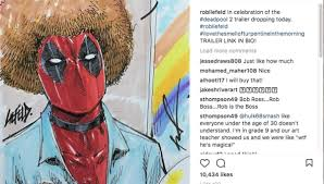 rob liefeld sketches trailer s deadpool bob ross mashup while