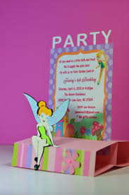 cricut tinkerbell fairy pop up birthday invitations jingvitations