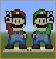 minecraft mario pixel art notary letter