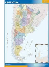 Wall Maps Our Argentina Wall Map Wall Maps Mapmakers Offers Poster