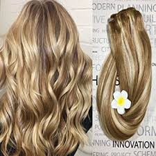 fine hair ombre amazon com clip in hair extensions human hair dirty blonde