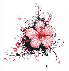 awesome hibiscus flower tattoo design by inga kristina