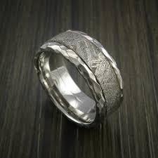 meteorite wedding band custom gibeon meteorite rings revolution jewelry