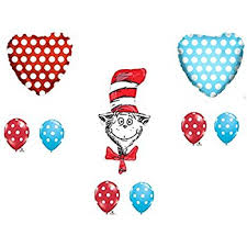 dr seuss balloons 9 pc dr seuss the cat in the hat happy birthday