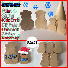 5 wooden snowmen wood snowman paint snowman ornament
