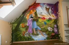 fresque chambre fille chambres de filles dacoration graffiti inspirations et fresque