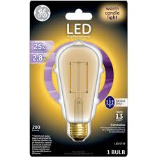 Led Night Light Bulb by Ge 25w Equivalent Uses 2 8w General Purpose A19 Vintage Led Bulb