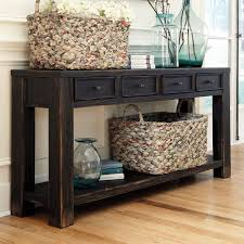Black Foyer Table Console Table With Drawers And Shelf Rustic Foyer Table Storage