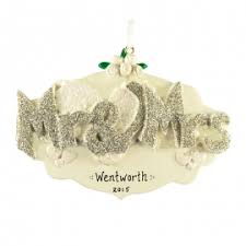 wedding engagement ornaments on sale personalized ornaments