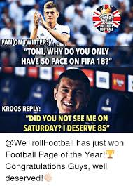 Saturday Memes 18 - we troll football 330 fanon twitterates toniwhy do you only have 50