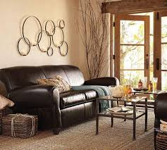 Brown Leather Sofa Living Room Ideas Extraordinary Wall Decor For Living Room Ideas Using Circular
