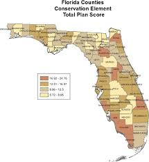 Map Of Florida Counties by Total Plan Scores For 67 Counties In Florida Showing Four