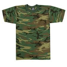 woodland camouflage t shirt with pocket walmart com