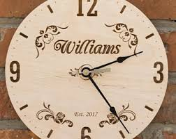 personalized anniversary clocks anniversary clock etsy