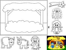 christain children worksheets and coloring pages nativity
