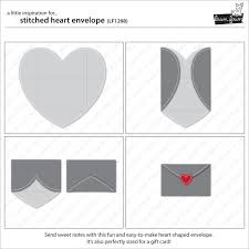 how to fold an envelope stitched heart envelope lawn fawn