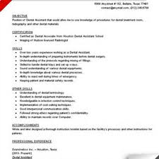 resume objective sle dental assistant resume objective for objectives sle resume for