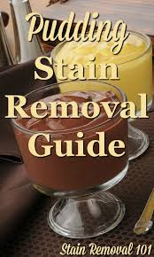 pudding stain removal guide for multiple flavors